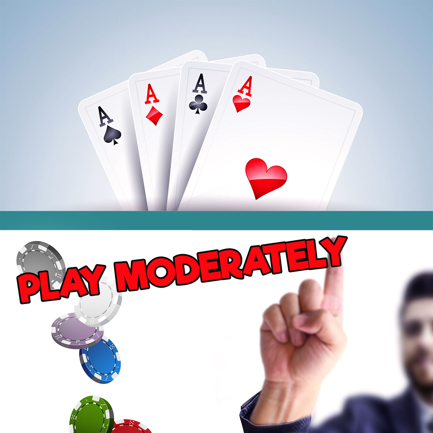 4 Aces, Play Moderately - BlackJack Tips