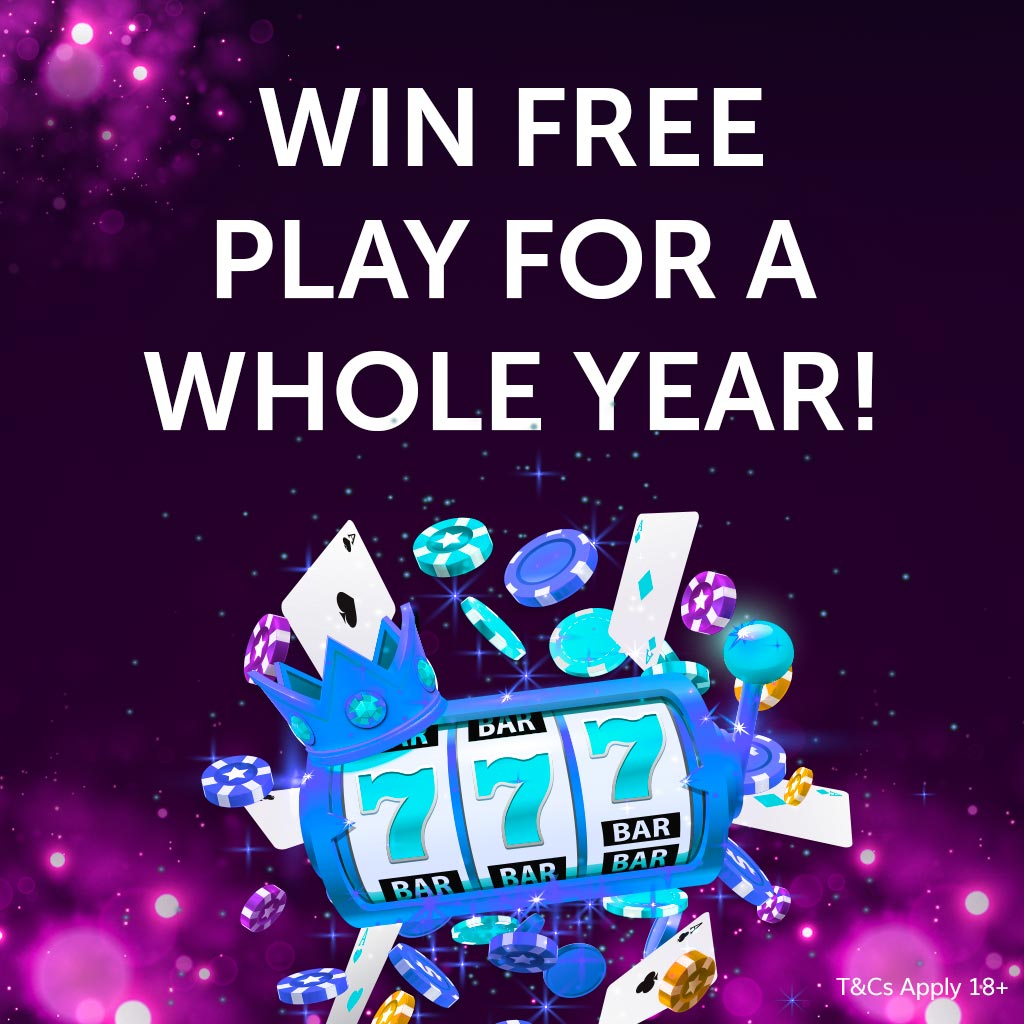 WIN FREE PLAY FOR A YEAR